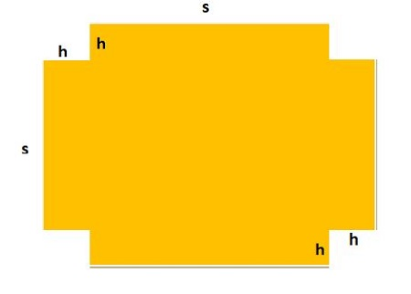 A rectangular tank with a square base, a open top and a