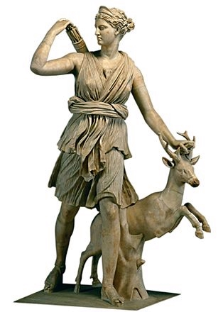 Artemis, as the goddess of the hunt