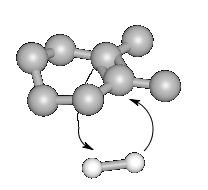 3D reaction of hydrogen