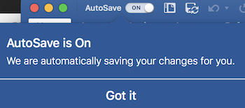 Autosave Feature