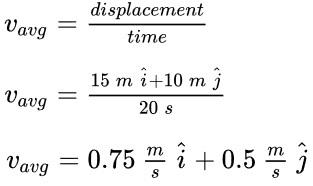 average velocity formula