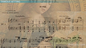 Ave Maria: Lyrics, Meaning & Composer - Video & Lesson Transcript