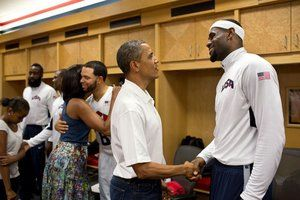 Barack Obama versus LeBron James