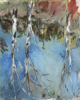 Fingerpainting of Birch Trees by Baselitz