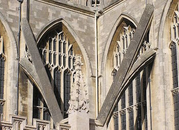 detail of a flying buttress