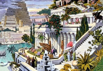 Painting of the Hanging Gardens of Babylon
