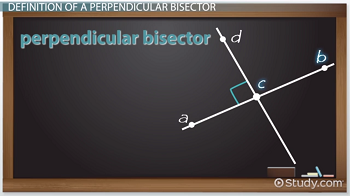 Perpendicular bisector example