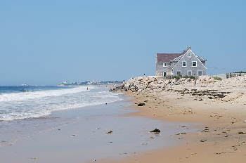 Beach house at Misquamicut Beach, Rhode Island