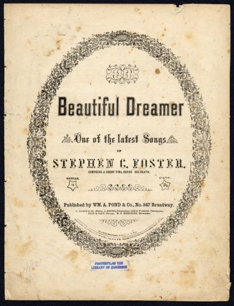 Image of Beautiful Dreamer sheet music cover