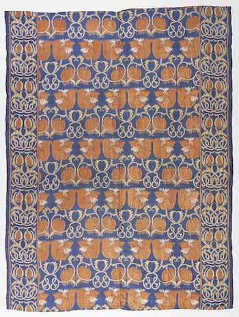 Block printed silk