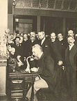 Alexander Bell Using the Telephone