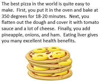 essay on pizza for kids Do you know how to write a descriptive essay about my favorite food don't worry our new article at essayvikingscom will help you with favorite food essay writing.