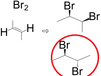 Two diastereomers for bromine