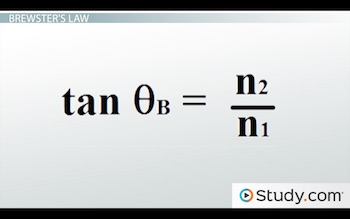 Brewsters law equation