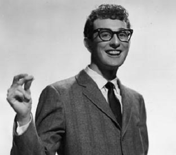 Buddy Holly in a suit and tie