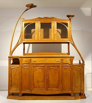 art nouveau furniture history characteristics. Black Bedroom Furniture Sets. Home Design Ideas