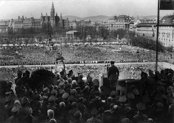 Hitler at Heldenplatz in Vienna