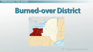 Burned Over District Map