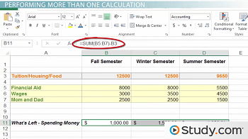 Compare 2 Excel Worksheets Using The Sum Function In Excel  Video  Lesson Transcript  Solving Equation Word Problems Worksheet Word with Panel Load Calculation Worksheet Excel Other Examples Find The Volume Worksheet Excel