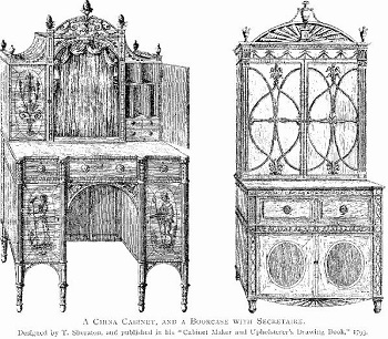 Regency Cabinet and Bookcase Design