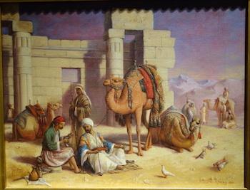 Cairo Travelers Resting, 1869