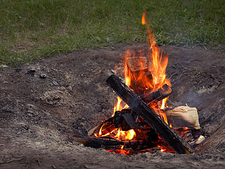 Campfire Converts Energy into Heat