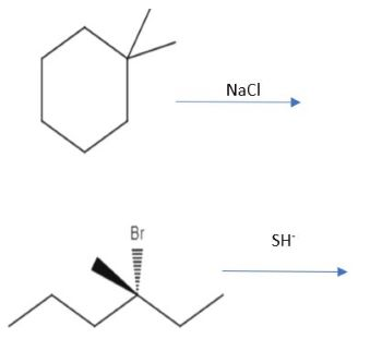 Draw All Of The Expected Products From The Following Reaction