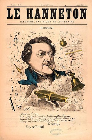 A Rossini caricature
