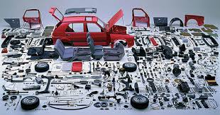 Car with parts