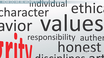 definition of moral values english