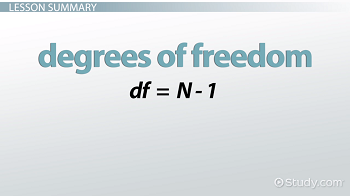 Degrees of freedom equatioin
