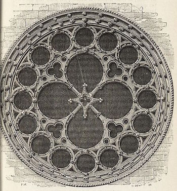 Plate Tracery In A Rose Window