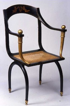 Empire Style Chair Modeled After Ancient Greek Furniture
