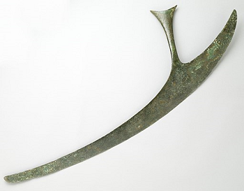 Ceremonial Chandrasa Copper Axe from India