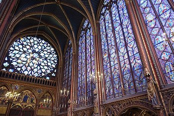 Interior Upper Chapel Of Sainte Chapelle