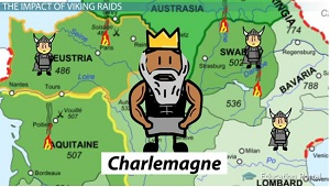 Charlemagne Viking Raids Map