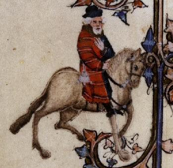The Franklin in The Canterbury Tales, from the Ellesmere manuscript