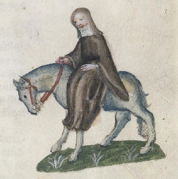 The Second Nun in The Canterbury Tales, from the Ellesmere manuscript