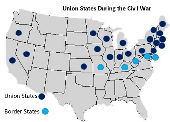 Union States during the Civil War Lesson for Kids   Study.com on