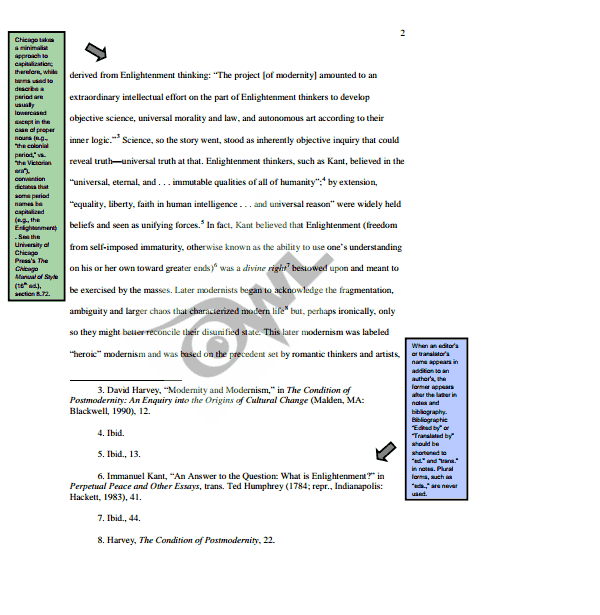 Example of essay with footnotes