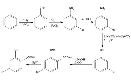 Synthesize The Following Compounds Starting From Benzene