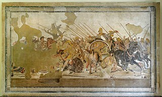 Battle of Issus Alexander Mosaic