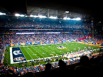 Picture of college football bowl game