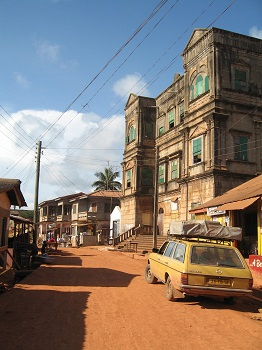 French Colonial Building in Ghana