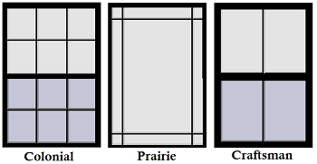 Ilration Of Colonial Prairie And Craftsman Styles