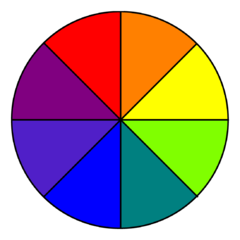 The Color Wheel Shows Primary And Secondary Colors
