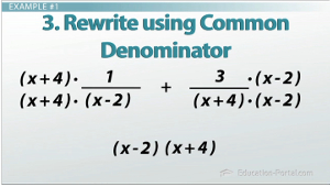 Common Denominator in Rational Expressions