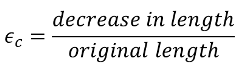 compressive strain equation