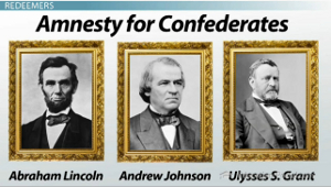 Confederate Amnesty Presidents
