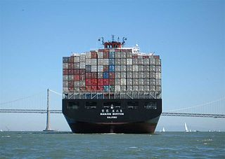 Container ships help export and import goods